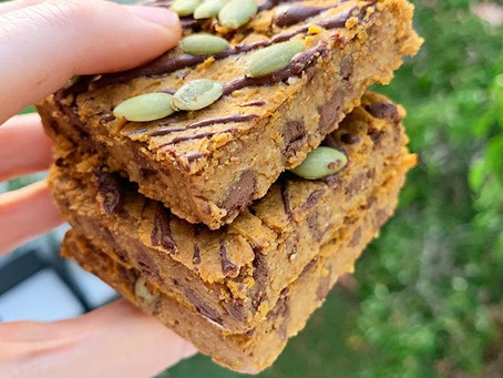 Pumpkin Protein Blondies (V, GF)