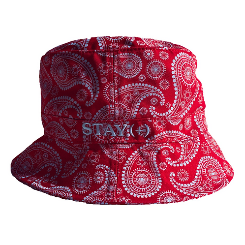 Paisley Positive Red Bucket