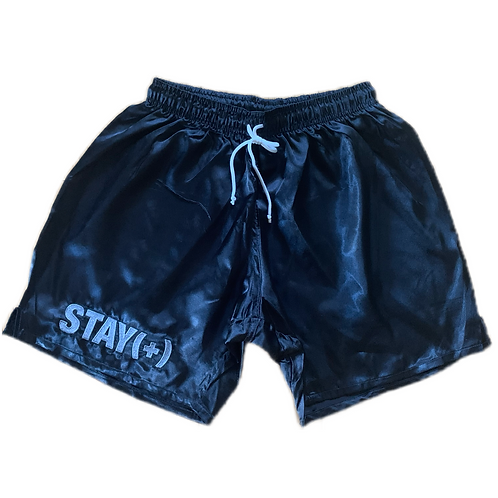 Satin Black (+) Shorts