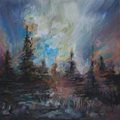 'Forest Sounds', Oil on board