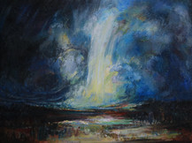 Ominous, Beautiful Storm, Oil on canvas