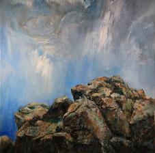 Skyward Bound, Oil on canvas.