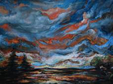 'Umbrian Heat', Oil on canvas