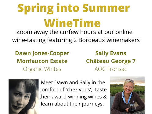 Spring into Summertime Online Tasting Event - 19.00 - 20.30 7th May 2021