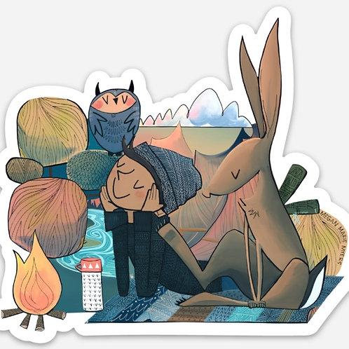 Sticker- Smith Rock Boy and Rabbit