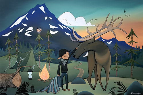 Elk and Boy