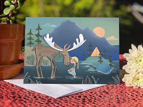 #10 Moose Girl- Blank Card