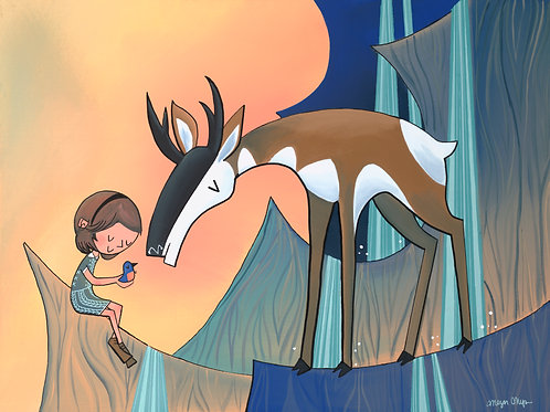 Pronghorn and Girl