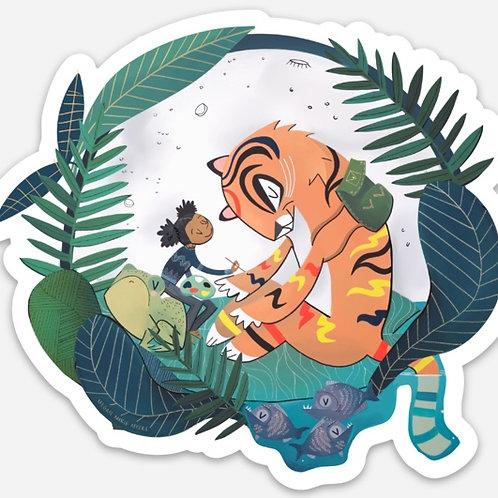 Sticker-Tiger