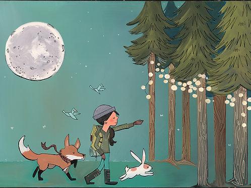 Forest Hiker Girl