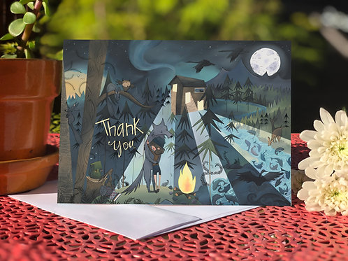 #50 Wolf Hug- Greeting Card