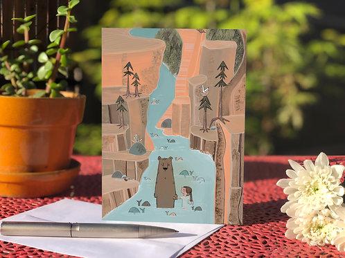 Bear and Canyon card