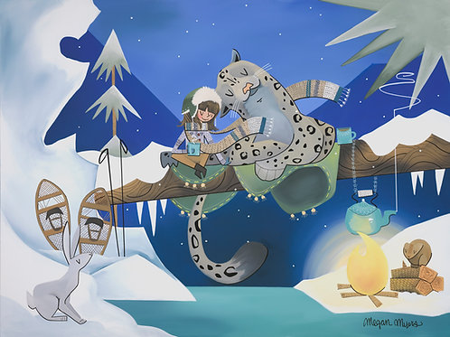 Snow Leopard and Girl