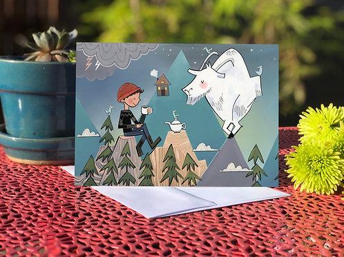 Mountain top tea for two card