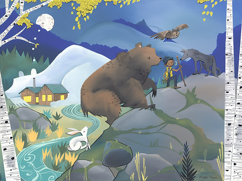 Bear and Hiker Boy