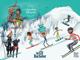 Mt. Bachelor 60th Anniversary Poster