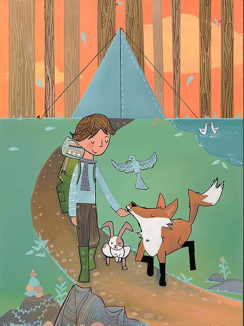 Trail Fox and Rabbit