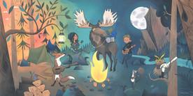Outdoor Ukulele Showroom Mural