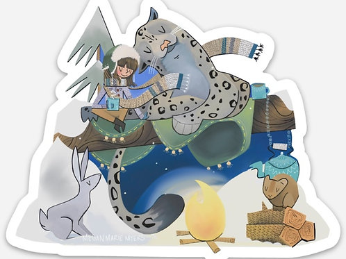 Sticker- Snow Leopard