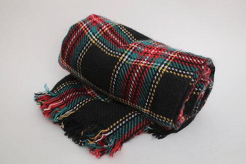 Royal Plaid Blanket Scarf