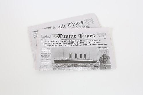 Titanic Times Newspaper