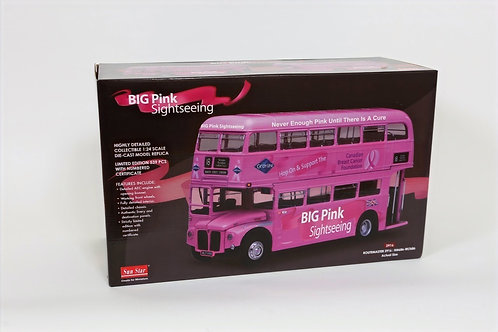 Big Pink Double Decker Bus