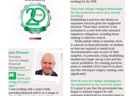 Omega Discusses Finance in the Irish Dentistry 20th Anniversary Edition