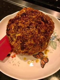 Roasted head of cauliflower