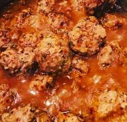 Grass fed paleo meatballs in paleo gravy