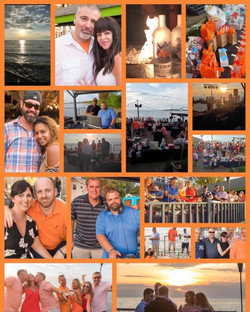 Collage from the Change MS orange affair