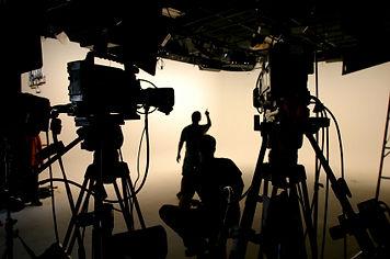 Film cameras on set
