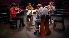 Rehearsal, quartet