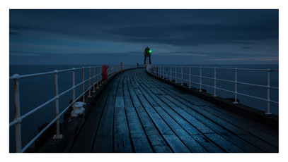 WHITBY STARBOARD HARBOUR LIGHT AT DAWN