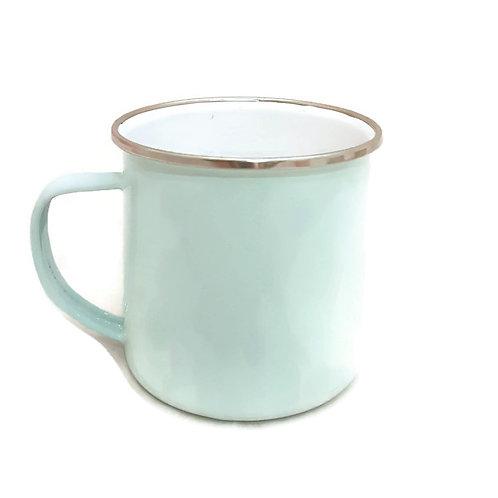 Vintage Enamel Mug-Pastel Blue