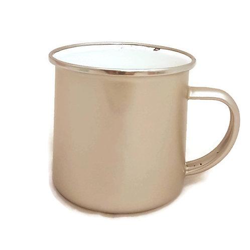 Vintage Enamel Mug-Gold