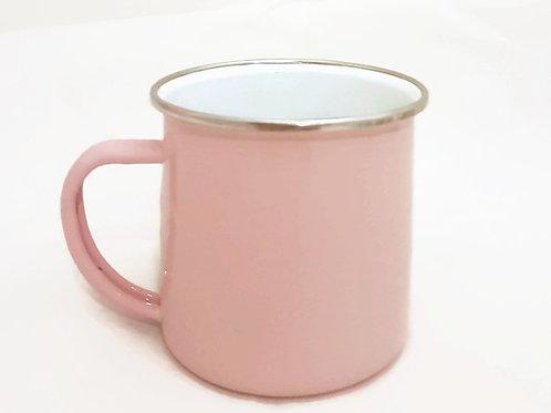 Vintage Enamel Mug-Pastel Pink
