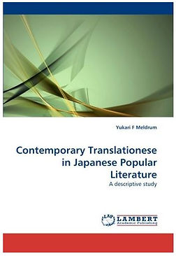 Contemporary Translationese in Japanes popular Literature: A Descriptive Study