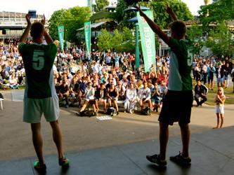 Freestyle show for Heineken på plænen i Tivoli