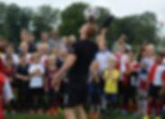 Freestyle fodbold og panna underholdning til fodboldklubben
