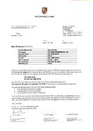 Porsche A40 Certificate