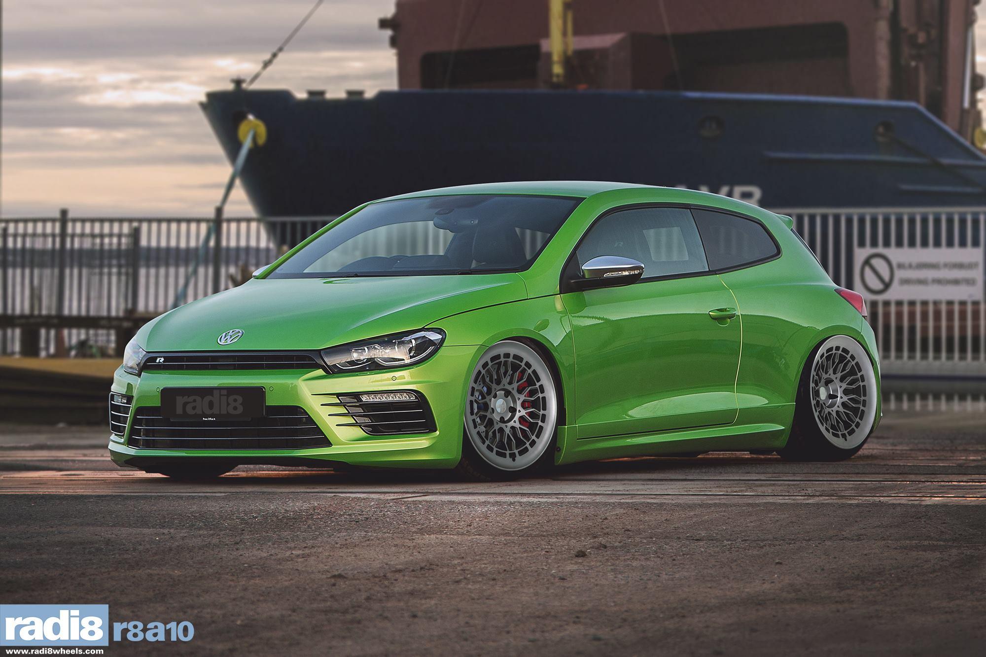 Radi8 R8A10 + Volkswagen Scirocco R green