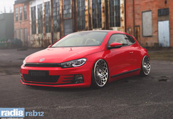 Radi8 R8B12 Wheels - Volkswagen Scirocco red2