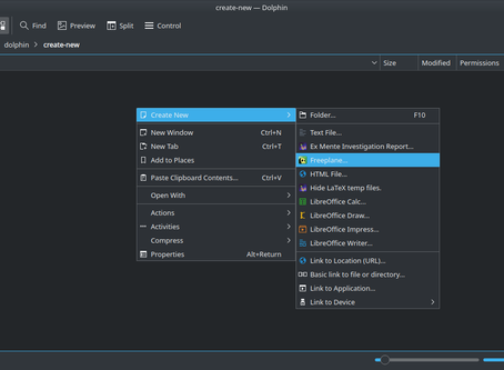 "Add your own ""Create New"" options in KDE Dolphin"
