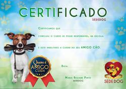 Certificado Sededog
