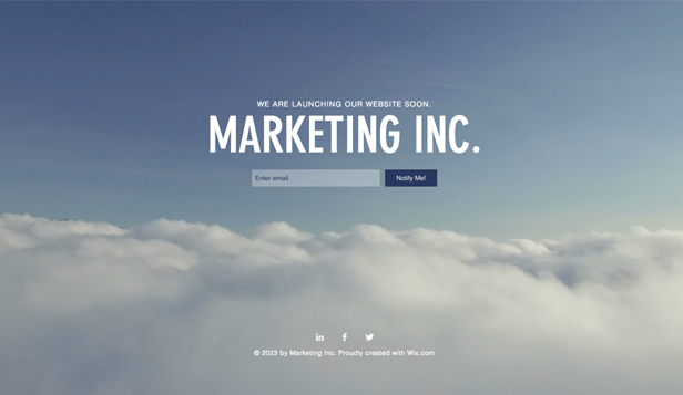 Advertising & Marketing website templates – Marketing Launch Page