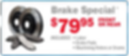 Brake Service Specia - Includes Pad and Labor