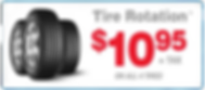 have your tires roated for only $10.95