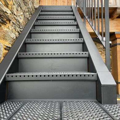 détail escalier 1/4 tournant