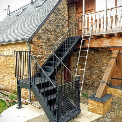 escalier 1/4 tournant extérieur