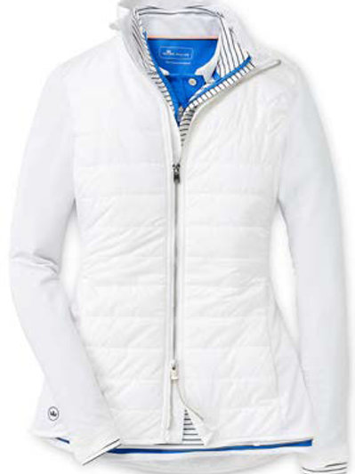 Peter Millar - Women's - Madeline Hybrid Full Zip Jacket - White